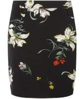 Dorothy Perkins Womens Black Multi Floral Print Mini Skirt