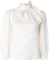 Alice + Olivia Alice+Olivia - bow neck blouse - women - Silk/Spandex/Elastane/Viscose - XS