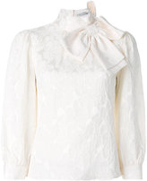 Alice + Olivia Alice+Olivia bow neck blouse