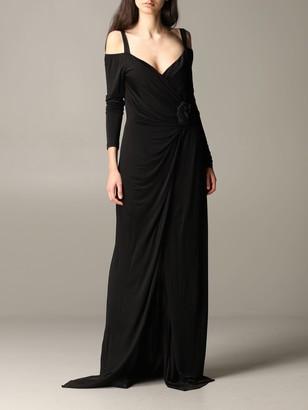 Blumarine Dress Long Dress In Jersey With Flower