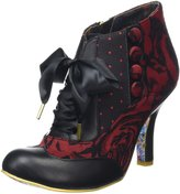 Irregular Choice Womens Blair Elfglow Black Textile Boots EU 39