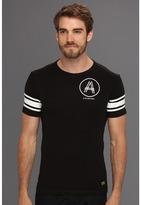G Star G-Star - Stripe Sleeve Crew Tee (Black) - Apparel