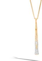 John Hardy Bamboo Pendant in 18K Gold and Diamonds