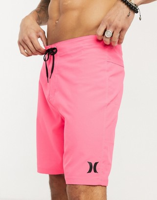 Hurley One and Only 20 board shorts in pink