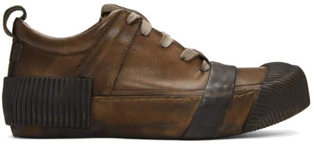 Boris Bidjan Saberi Brown Kangaroo Sneakers