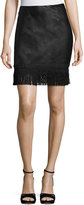 Goldie London Get Down Tonight Faux-Leather Skirt, Black