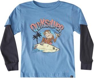 Quiksilver Kids' Champ Chimp Long Sleeve Graphic Tee
