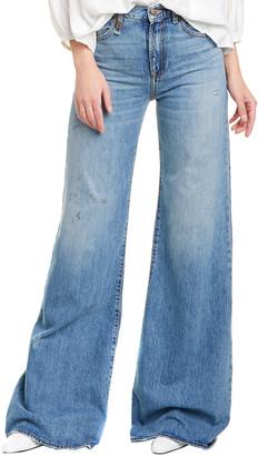 R 13 Reagan Holly Clean Wide Leg Jean