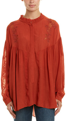 IRO Geryn Silk-Blend Blouse