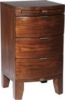 Linea Lyon 3 drawer bedside chest with coffee slide