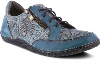 Spring Step L'Artiste by Floral Lace-Up LeatherShoes - Cluny