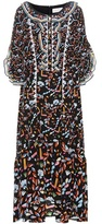 Peter Pilotto Printed Lace silk gown