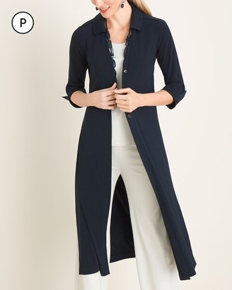 Travelers Collection Petite Navy Button-Down Jacket