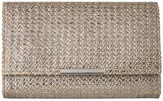 Jessica McClintock Nora Clutch (Gold Metallic) Clutch Handbags