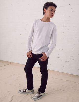 RSQ Boys Super Skinny Stretch Ripped Black Jeans