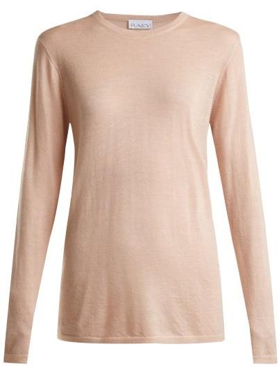 Raey Long Line Fine Knit Cashmere Sweater - Womens - Nude
