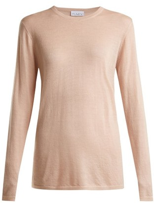Raey Long-line Fine-knit Cashmere Sweater - Pale Pink