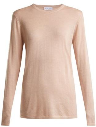 Raey Long-line Fine-knit Cashmere Sweater - Womens - Nude