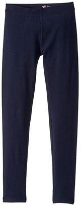 crewcuts by J.Crew Cotton Lycra Full-Length Leggings (Toddler/Little Kids/Big Kids) (Black) Girl's Casual Pants