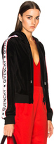 Givenchy Logo Band Velvet Track Jacket in Black.