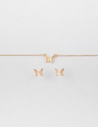 Full Tilt Butterfly Necklace & Earring Set