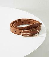 LOFT Perforated Skinny Belt