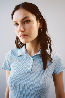 Project Social T Pointelle Polo Tee
