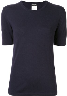 Chanel Pre Owned knitted short-sleeved T-shirt