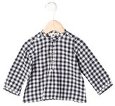 Bonpoint Girls' Long Sleeve Gingham Shirt