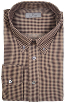 Canali Regular Button-Down Printed Dress Shirt