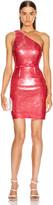 HANEY Serena One Shoulder Mini Dress in Dusty Rose Sequin | FWRD