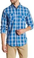 Burnside Sleeper Long Sleeve Regular Fit Plaid Shirt