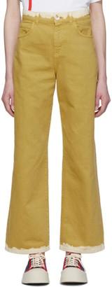 Marni Yellow Bicolor Denim Jeans