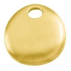 Diamond2deal 14K Yellow Gold 15.5x16.75 mm Geometric Pendant