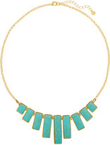 Kenneth Jay Lane Gold-tone faux turquoise necklace