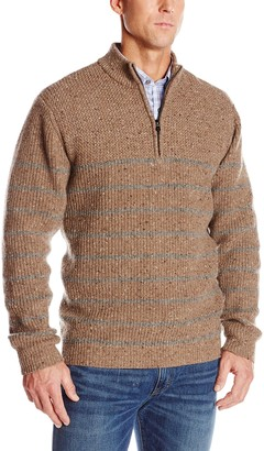 Cutter & Buck Men's Big-Tall Big and Tall Ramsey Argyle Half Zip Sweater