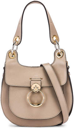 Chloé Small Tess Leather Hobo Bag in Motty Grey | FWRD