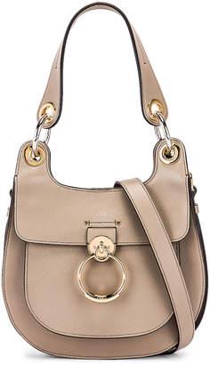 Chloé Small Tess Leather Hobo Bag in Motty Grey | FWRD