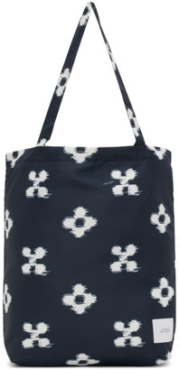 Saturdays NYC Navy Floral Ikat Tote Bag