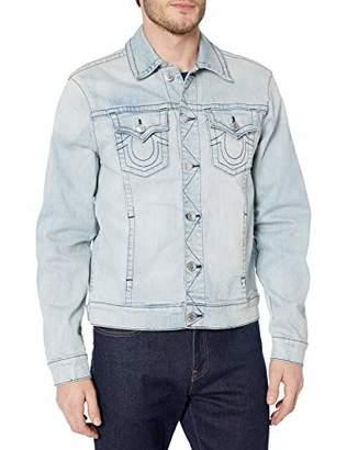 True Religion Men's Denim Long Sleeve Trucker Jacket