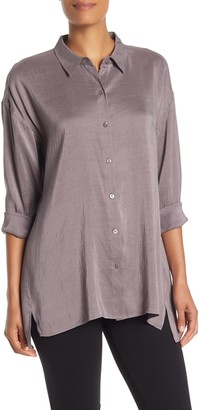 Eileen Fisher Classic Collared Silk Shirt