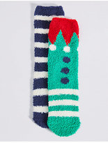 Marks and Spencer 2 Pairs of Socks(2-14 Years)