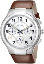 Philip Stein Teslar Men's 45-SCRW-CIBR Round Analog Display Japanese Quartz Brown Watch