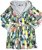 Molo Surf Print Cotton Jersey Bathrobe