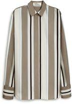 Mulberry Agatha Shirt Grey Striped Twill