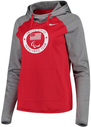 Nike Women's Red/Gray U.S. Paralympics All Time Long Sleeve Performance Hoodie