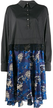 Faith Connexion Contrast Skirt Shirt Dress