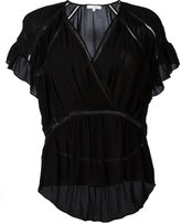 IRO v-neck frill blouse