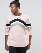 Asos Chevron Stripe Design Sweater