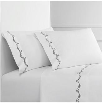 Melange Home Laurel Embroidered Sheet Set